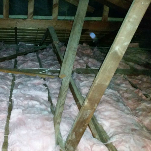 New R-30 Insulation Installed and attic Sanitized